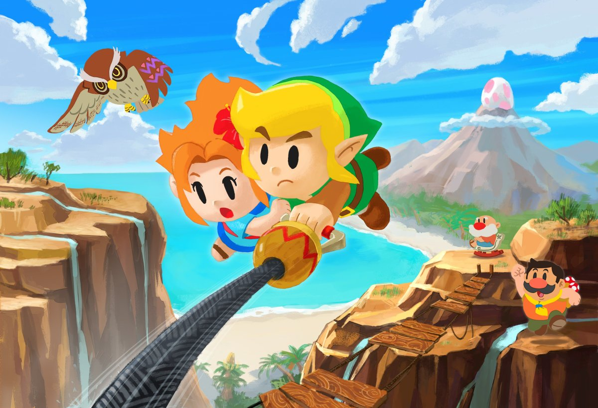 Ilustrasi khusus yang diluncurkan untuk The Legend of Zelda: Link's Awakening on on Nintendo Switch