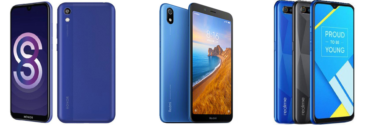 Honor Play 8 vs. Redmi 7A vs Realme C2: Perbandingan Fitur 1