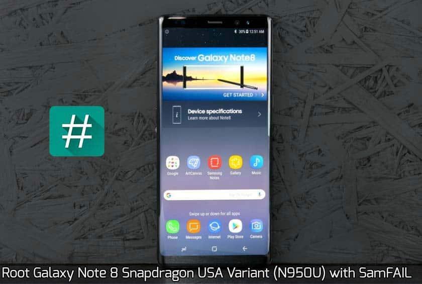 Juuri Galaxy Note  8    Snapdragon USA (N950U) -variantti SamFAIL: n kanssa