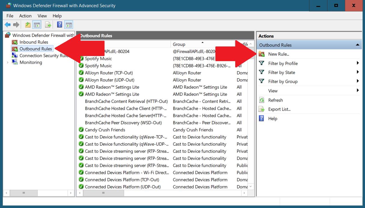 Toppappar för att blockera ett program från att få åtkomst till Internet på Windows 10 1