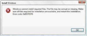 Windows-Fel-0x80070570-Förhands