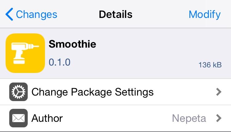 Smoothie menghapus efek 'paging' saat menavigasi layar Utama 1