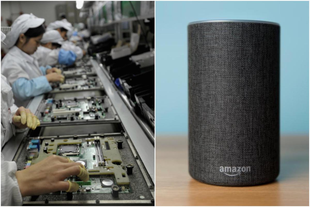 AmazonPerangkat Alexa dan Echo sedang dibangun secara ilegal oleh anak-anak sekolah Cina yang bekerja dalam shift yang melelahkan, kata badan amal.