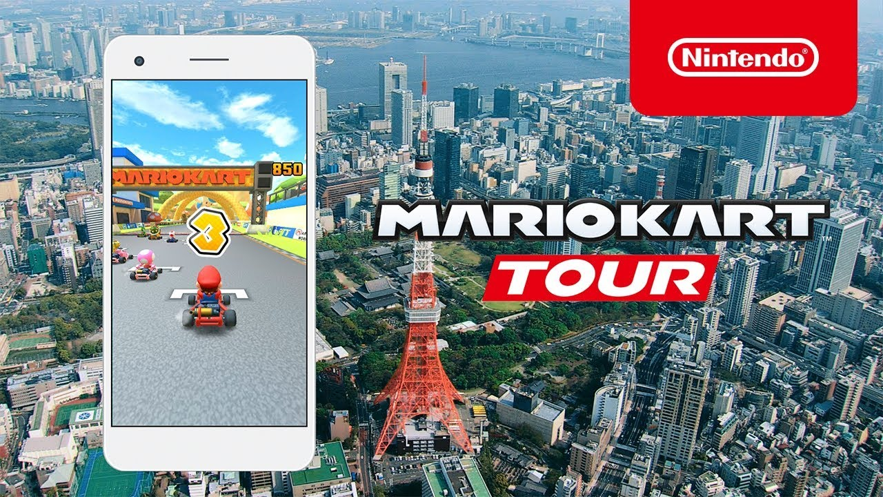 "Mario Kart tour - commercial ""Course of Tokyo under construction"" 1"