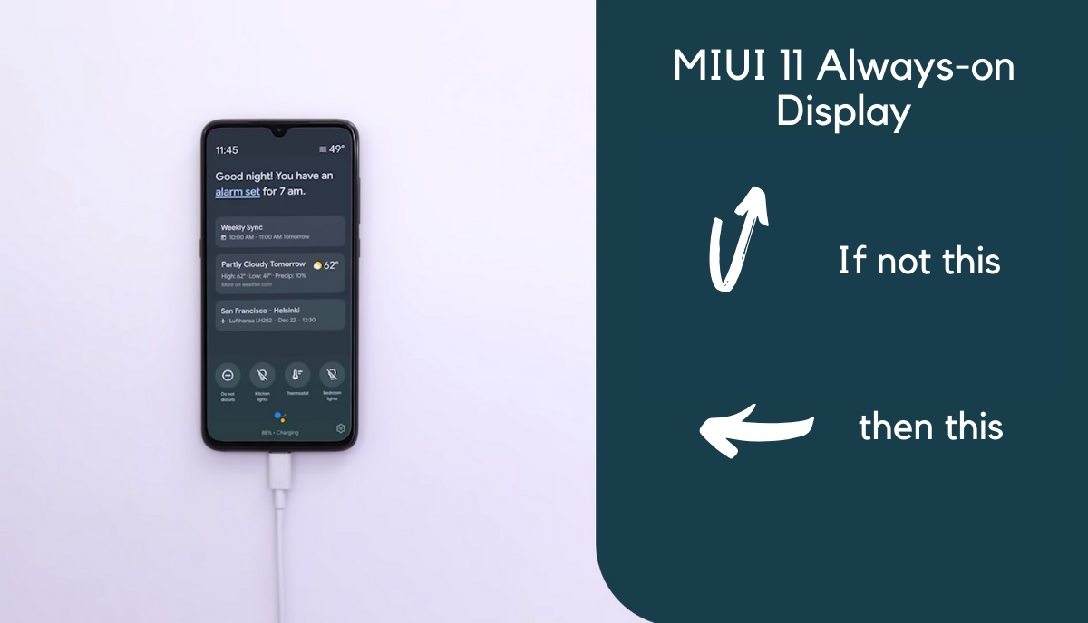 miui Google settings how to enable ambient