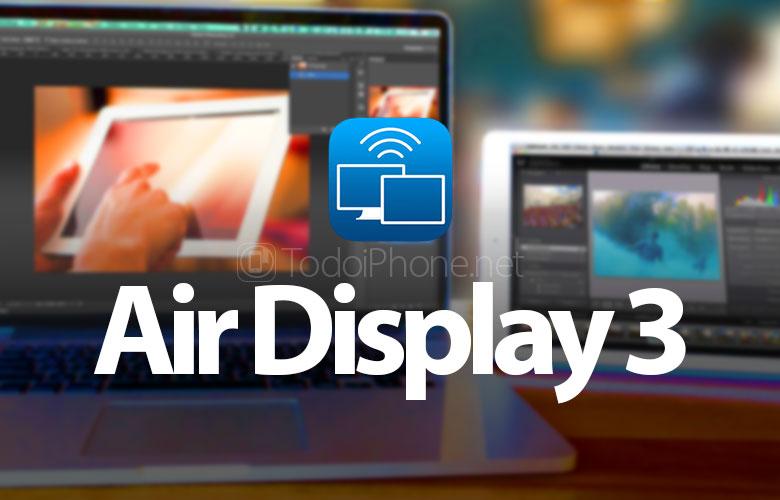 Air Display 3, aplikasi untuk menduplikasi layar Mac di iPhone atau iPad dengan USB dan Wi-Fi 1