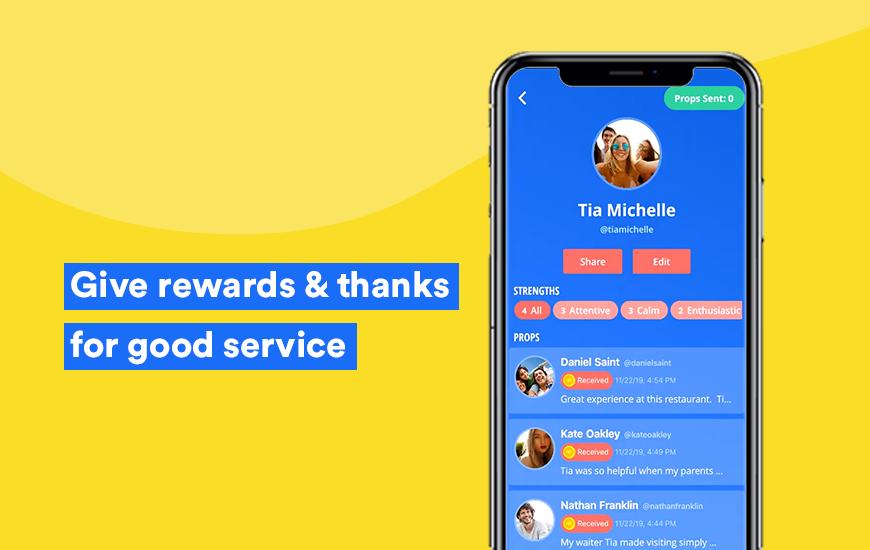 Props Love App Rewards por excelencia en el servicio al cliente