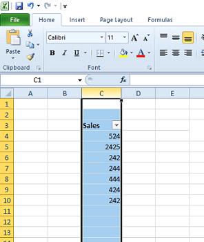 Die Excel-Tabelle in der Excel-Spalte wird nicht korrekt gefiltert