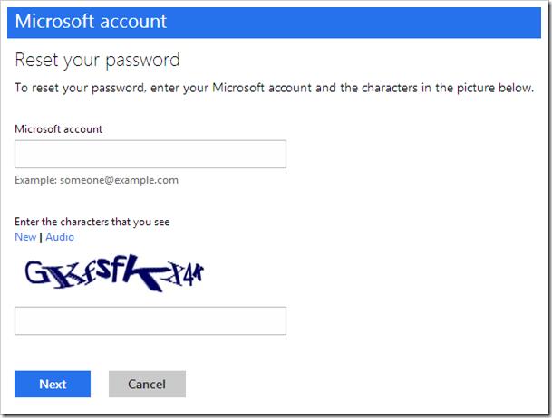 Microsoft account reset password your pc is offline windows 8