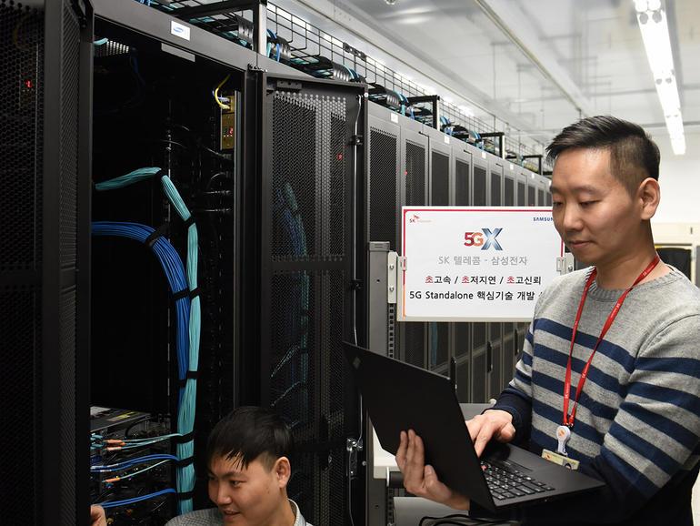 SK Telecom ja Samsung tekevät yhteistyötä 5G: n parissa yritykselle