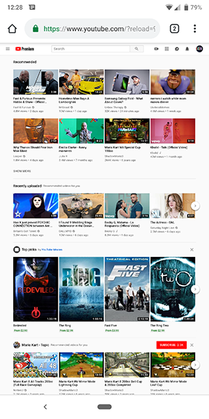Ako môžeš vidieť YouTube Webové stránky vášho telefónu 3