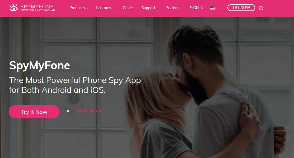SpyMyFone ana ekrani