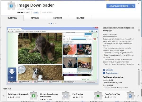 Najlepšie rozšírenia prehliadača Chrome na sťahovanie alebo správu obrázkov 2