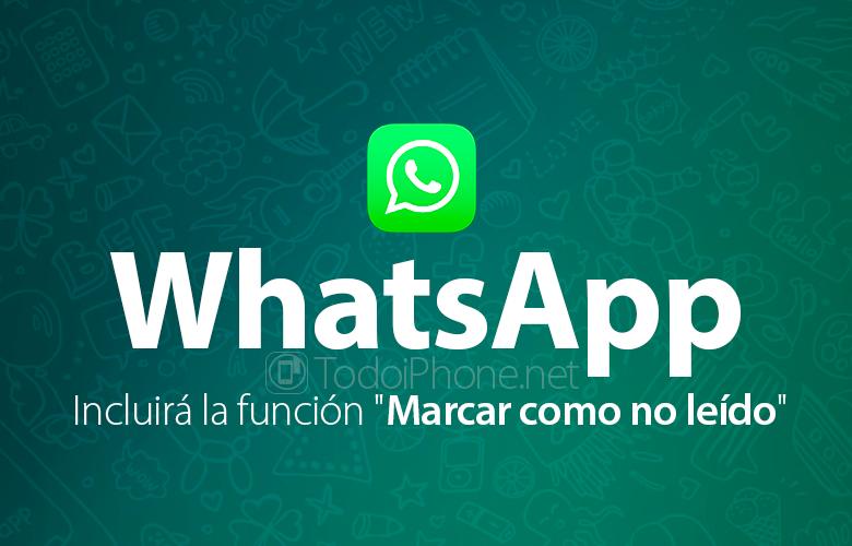 """WhatsApp sisältää toiminnon """"Merkitse lukemattomaksi"""""""