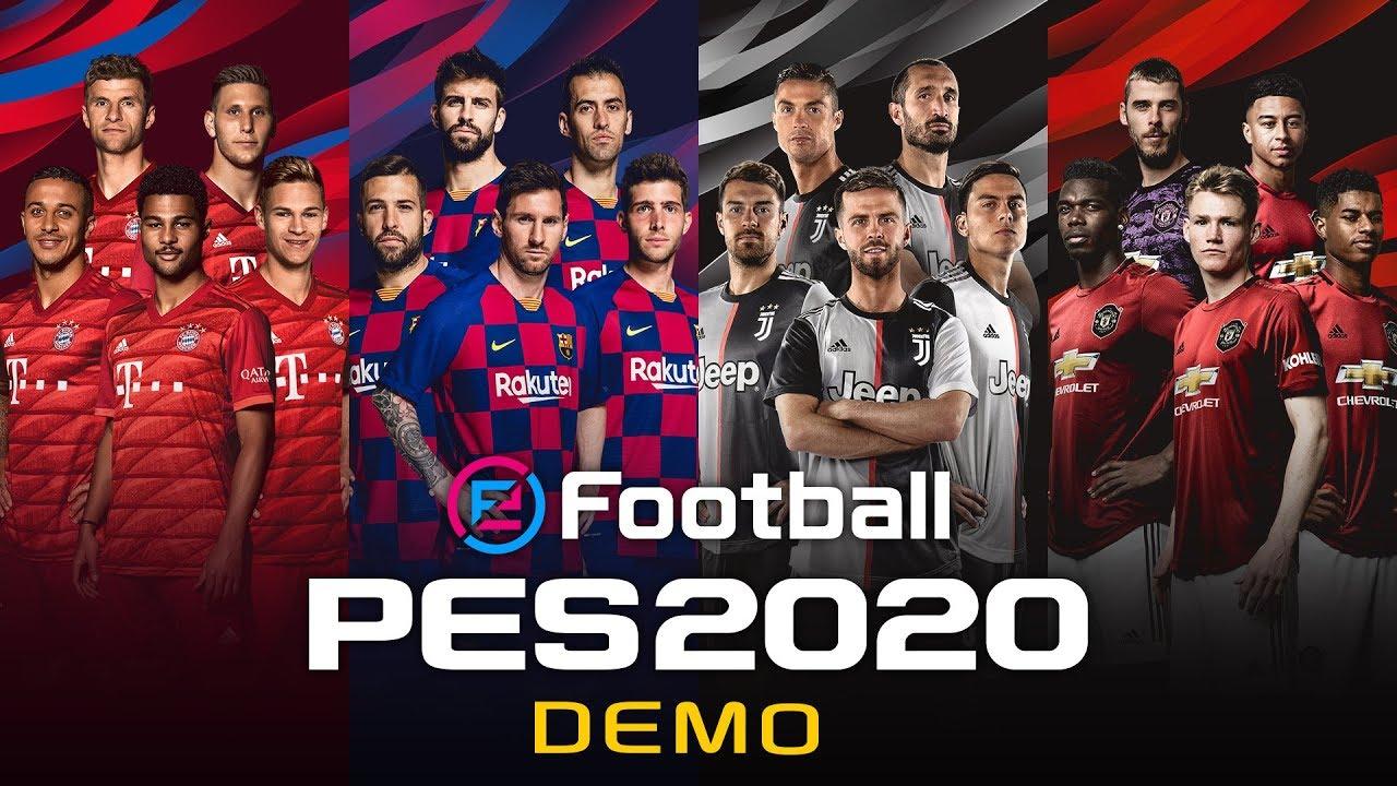 eFootball PES 2020 - DEMO sekarang tersedia di PC, PS4 dan XB1; Detail dan Trailer