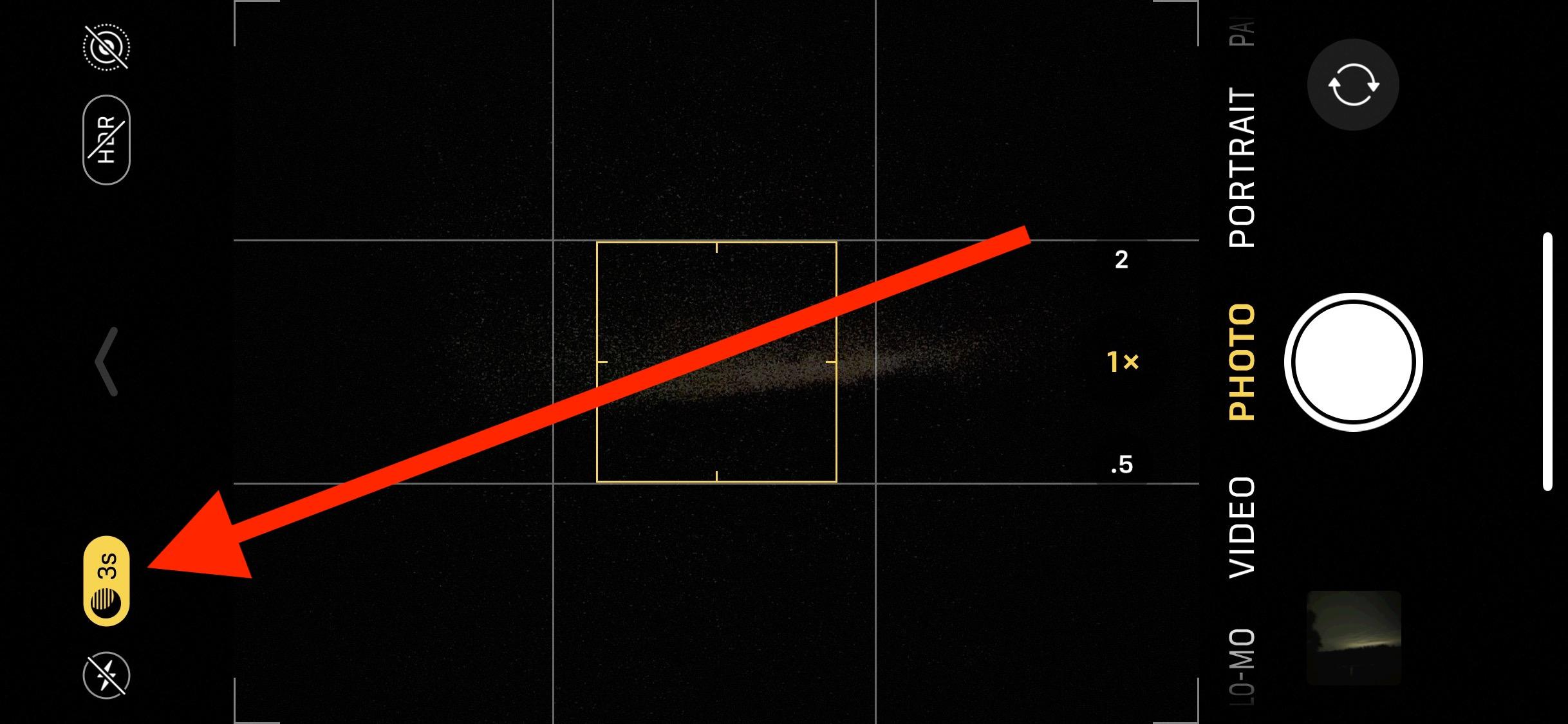 Cómo ajustar la duración de la exposición de la cámara en modo nocturno en iPhone 11 Pro y iPhone 11