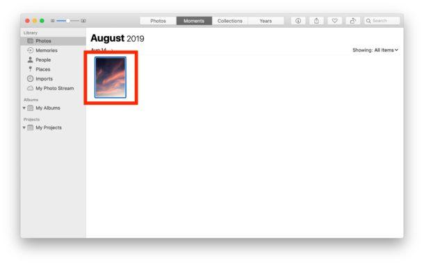 Cómo rotar una imagen en Fotos en Mac