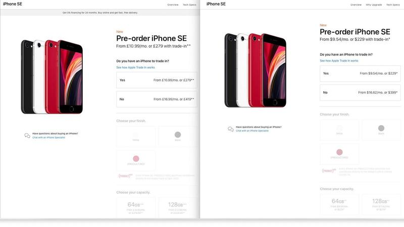 iphone se price in us and uk