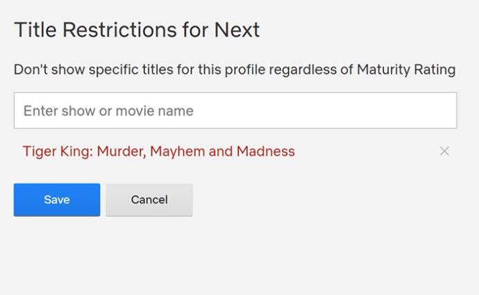 Netflix-də şouların qarşısını almaq üçün valideyn nəzarətindən istifadə 3