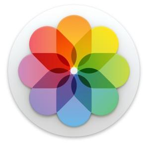 Icono de la aplicación Fotos en Mac OS X