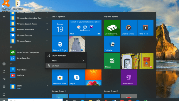 How to organize and remove applications from Windows 10 Start menu 'All applications' ... 8