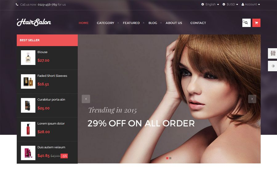 AP Hair Salon PrestaShop Theme