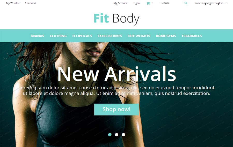 Fit Body Free OpenCart Mall