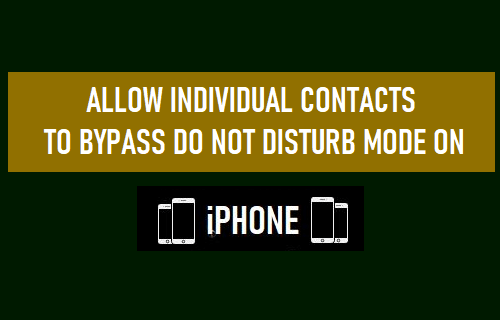 Deje que los contactos individuales omitan el modo No molestar iPhone