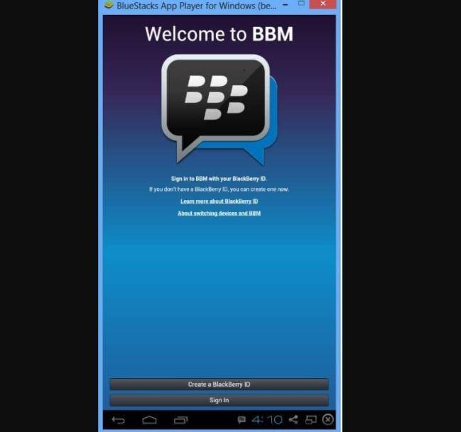 Bluestacks для приложения BBM
