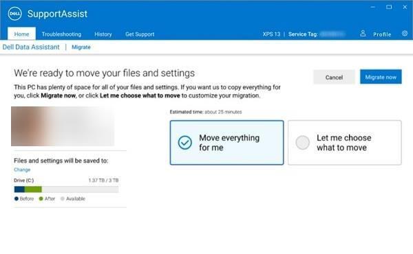 Faylları bir PC-dən digərinə köçürmək üçün Dell Migrate-dan necə istifadə olunur 4