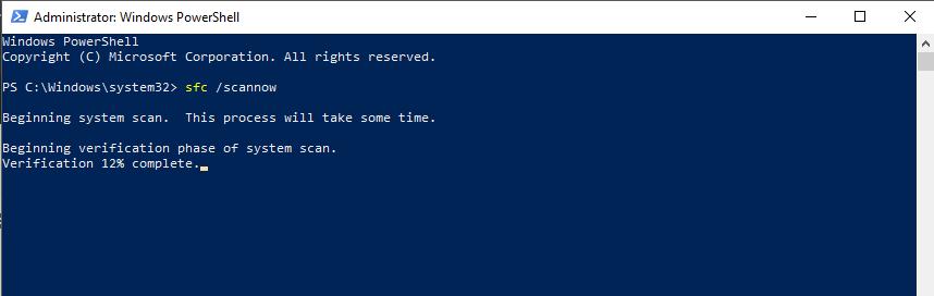 Windows    Power Shell sfc tarama işləyir - Siluet yeniləməyəcək