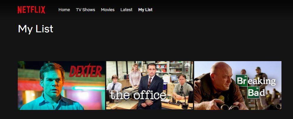 Netflix My List_Netflix código de error 100