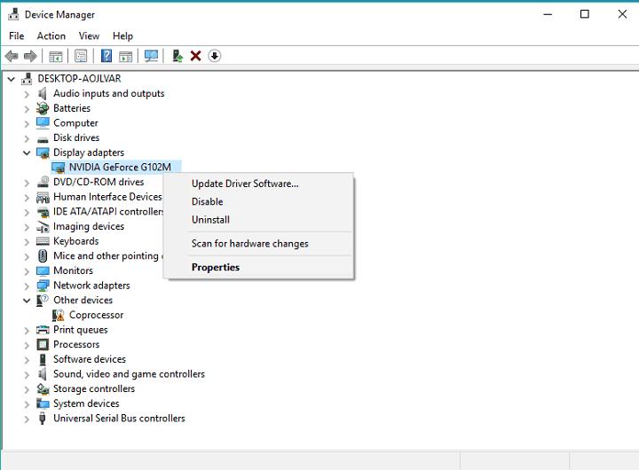 update the driver software error 45