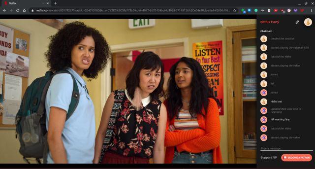 Netflix-də əyləncə gecəsi Onlayn dostları ilə birlikdə filmlərə baxın
