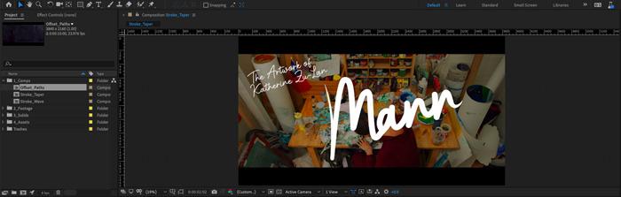 Adobe After Effects ahora permite a los usuarios reducir los trazos para efectos escritos a mano