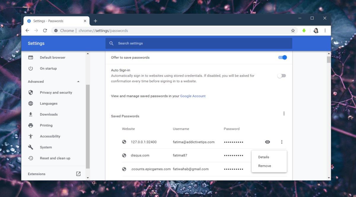 Cara memperbarui kata sandi yang disimpan di Chrome