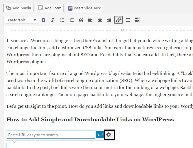 Cómo agregar enlaces simples y descargables en WordPress