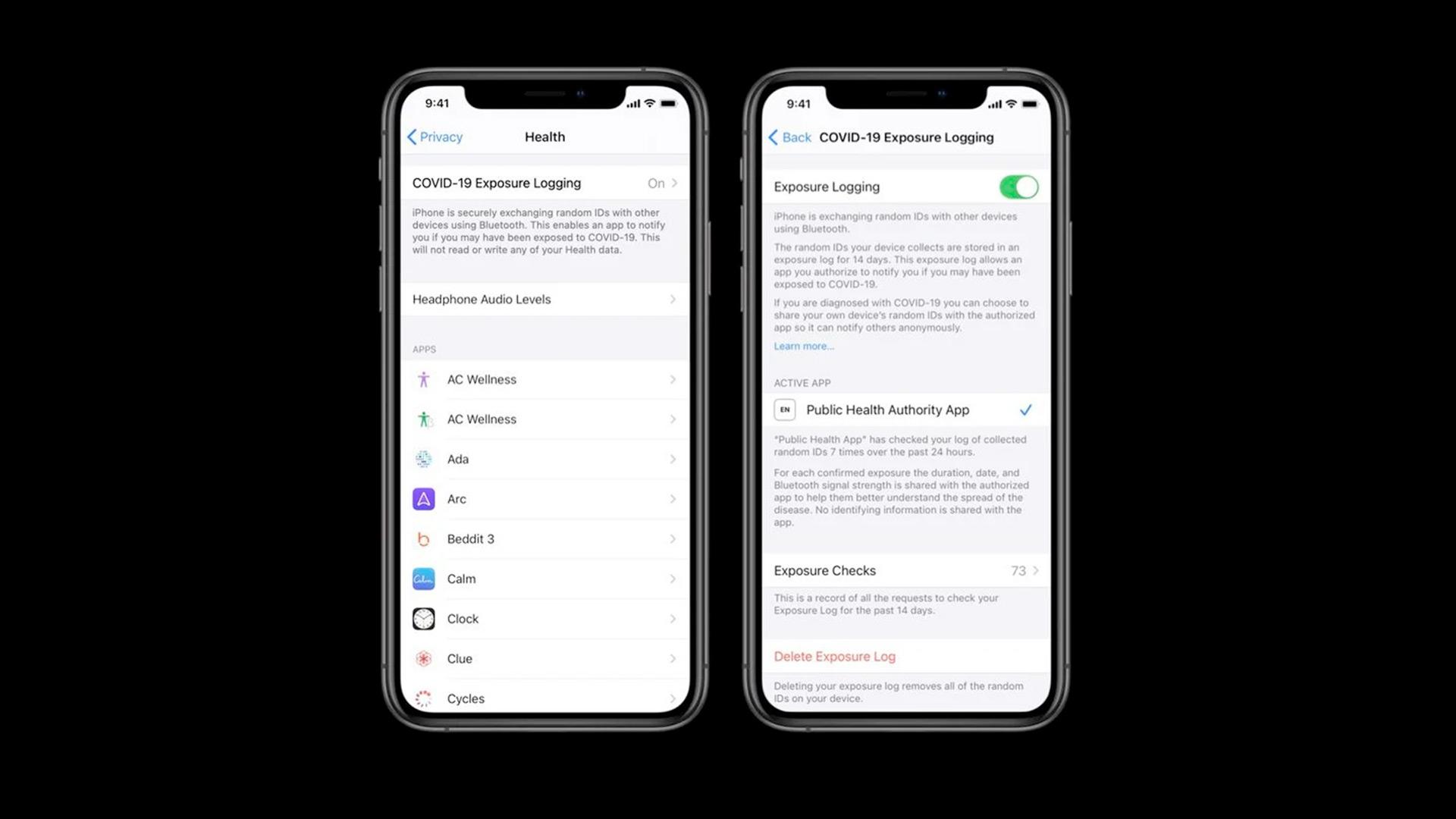 Cómo encender / apagar COVID-19 Seguimiento de contactos en iPhone en iOS 13.5