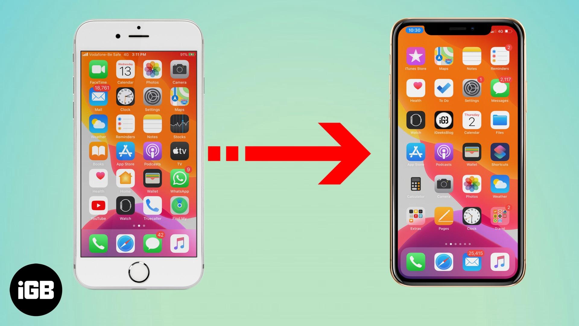 Cómo transferir sus datos del iPhone antiguo al iPhone nuevo