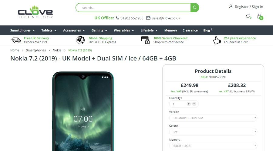 Clove sekarang menawarkan Nokia 7.2, Nokia 2720 Flip dan Nokia 800 Tough untuk Inggris dan UE 1