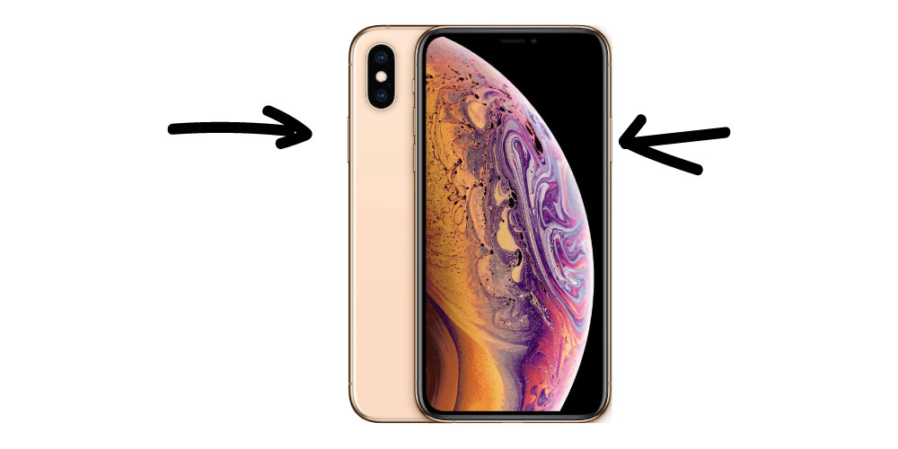 Cómo captura de pantalla en iPhone XS