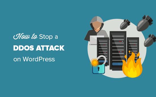 Stoppa och förhindra en DDOS-attack på en WordPress-webbplats