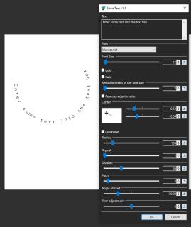 Cách uốn cong văn bản với Paint.NET 1