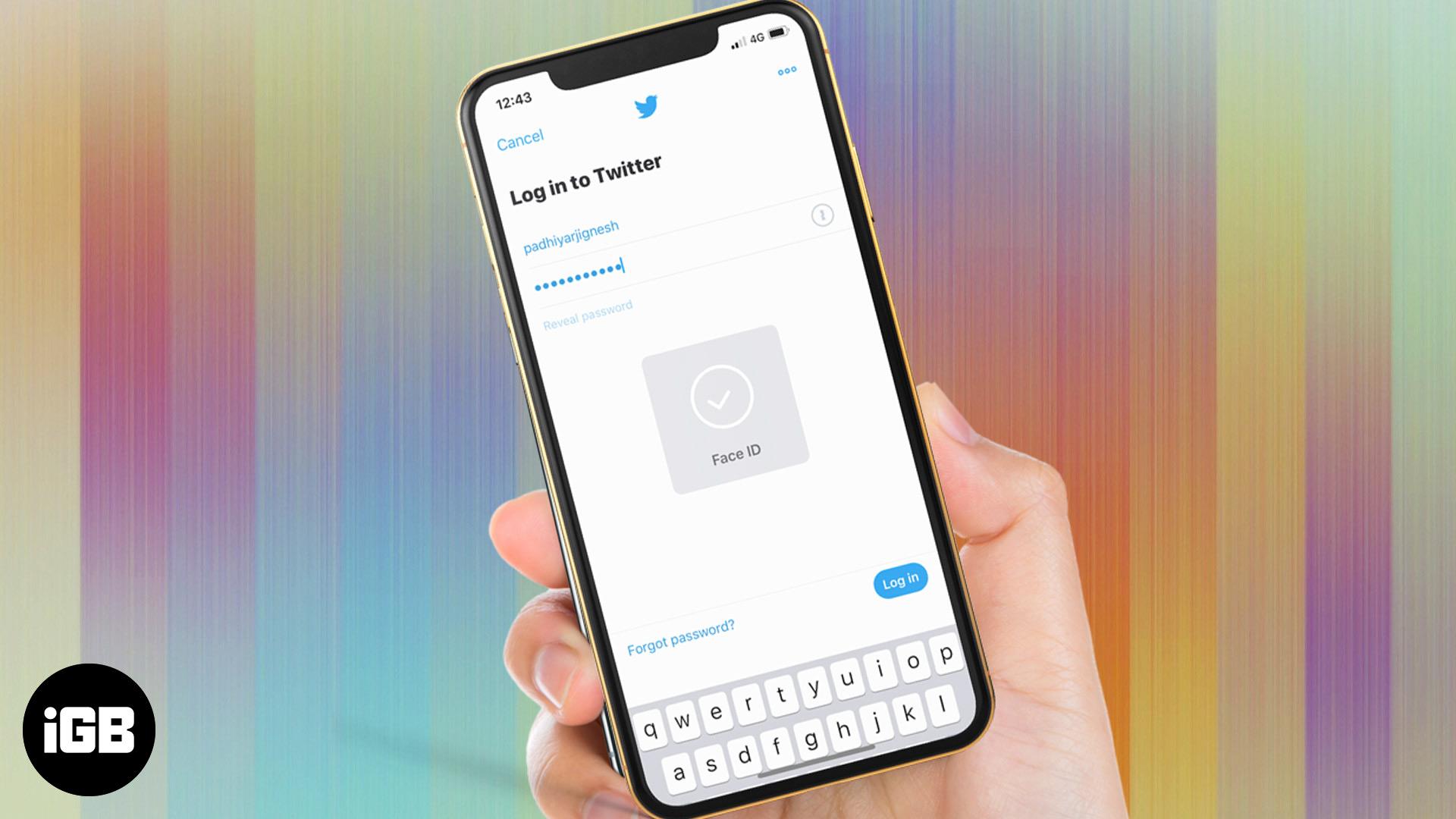 Cómo usar la cara ID iniciar sesión en aplicaciones en iPhone