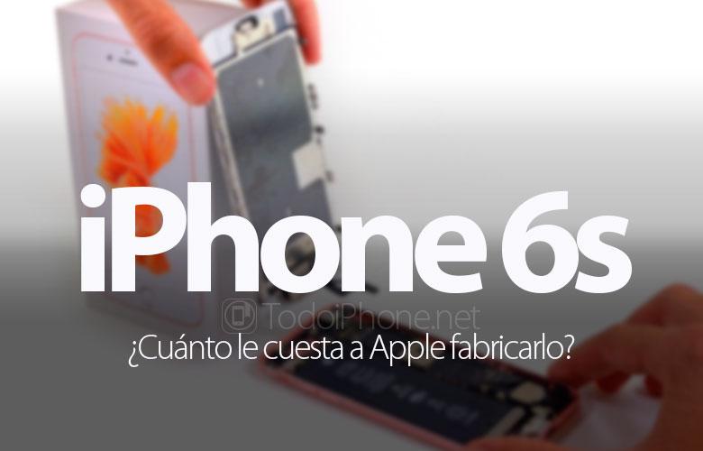 Berapa biayanya Apple membuat iPhone 6s? 1