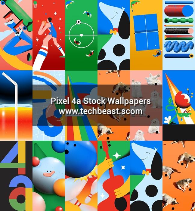 Pixel 4a arkiv tapeter