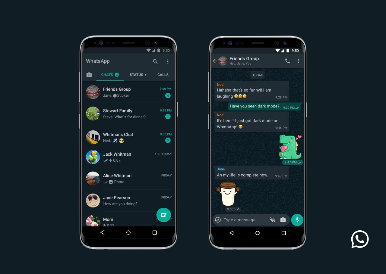 Mode gelap WhatsApp menjangkau semua orang