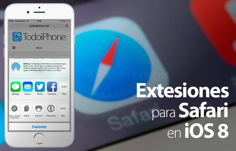 Ekstensi untuk Safari di iPhone dengan iOS 8 1