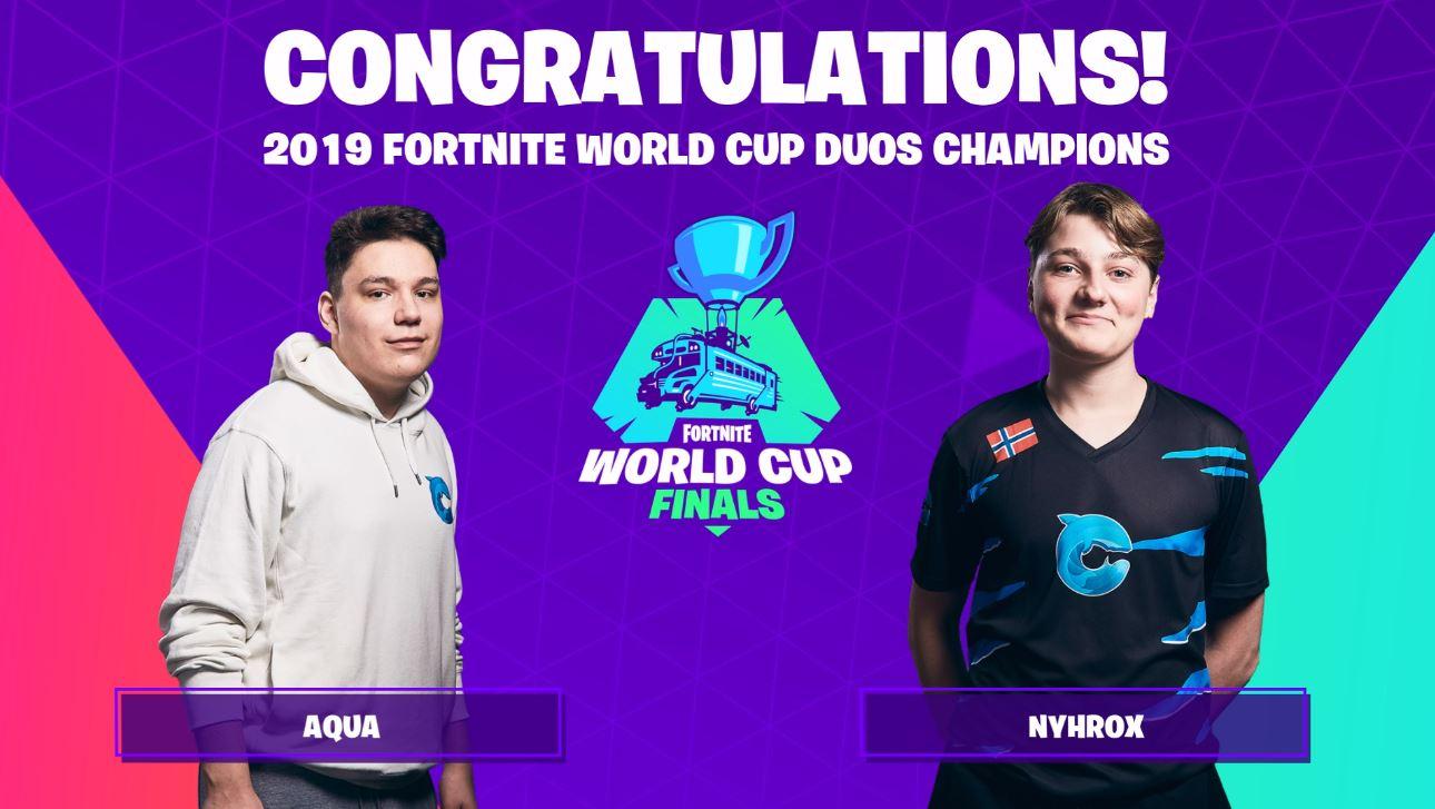 Fortnite World Cup -mestari Duo paljasti vaihtaneensa joukkueita.