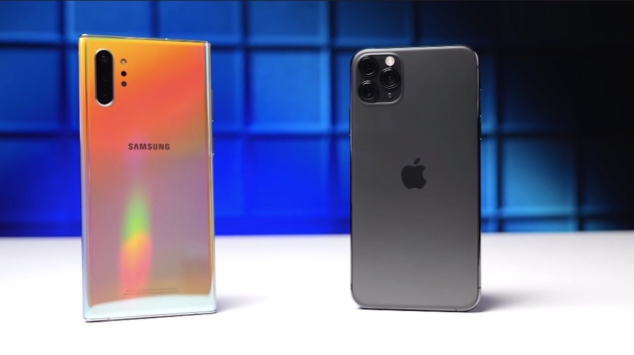 Samsung Galaxy Note 10+ vs iPhone 11 Pro Max Drop Test A